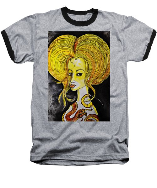 Baseball T-Shirt featuring the painting Golden Core by Sandro Ramani