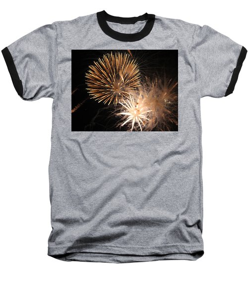 Golden Fireworks Baseball T-Shirt