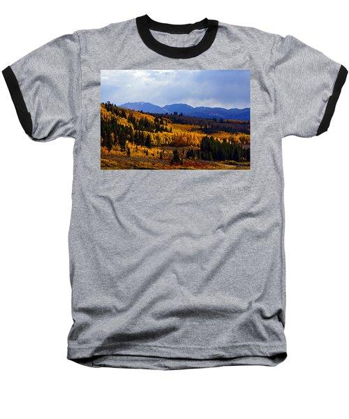 Golden Fourteeners Baseball T-Shirt by Jeremy Rhoades