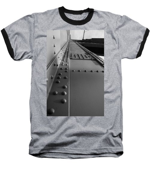 Golden Gate  Abstract Baseball T-Shirt by Aidan Moran
