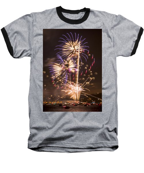 Golden Gate Bridge 75th Anniversary Fireworks 10 Baseball T-Shirt