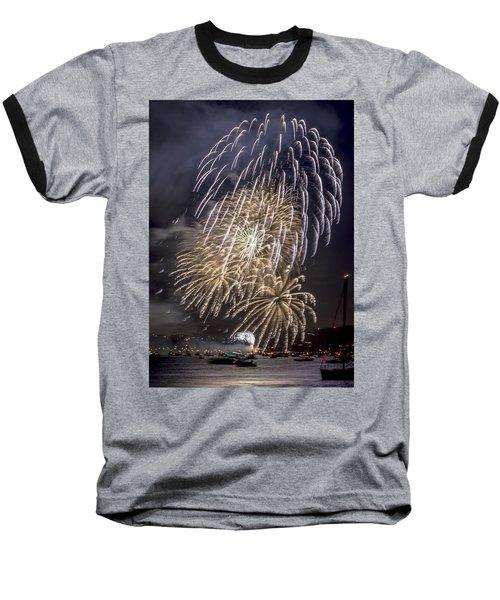 Golden Gate Bridge 75th Anniversary Fireworks 15 Baseball T-Shirt