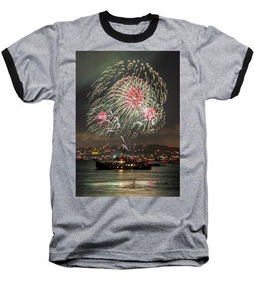 Golden Gate Bridge 75th Anniversary Fireworks 18 Baseball T-Shirt