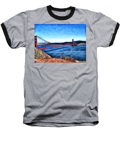 Windy Day At Golden Gate Bridge Baseball T-Shirt
