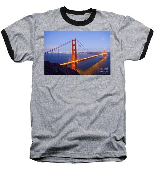 Golden Gate Bridge At Dusk Baseball T-Shirt