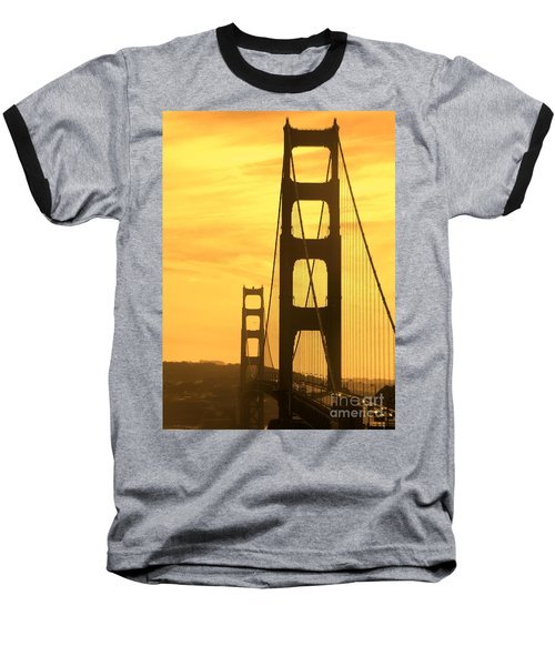 Baseball T-Shirt featuring the photograph Golden Gate Bridge  by Clare Bevan