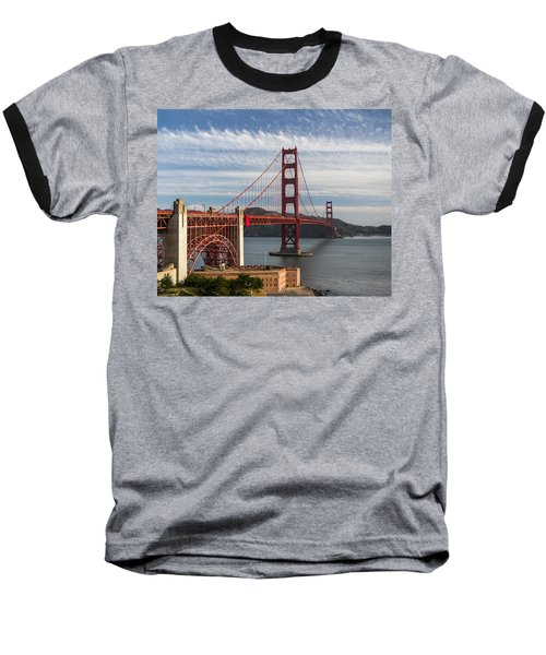 Golden Gate Bridge Morning Light Baseball T-Shirt