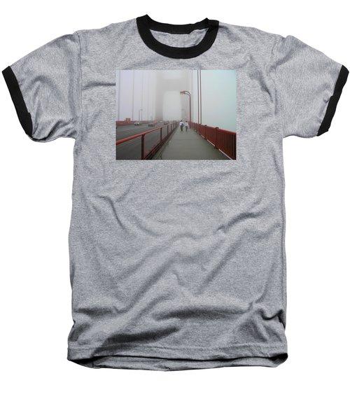 G. G. Bridge Walking Baseball T-Shirt by Oleg Zavarzin
