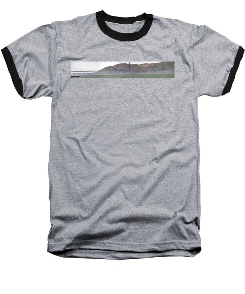 Golden Gate Bridge Panorama Baseball T-Shirt