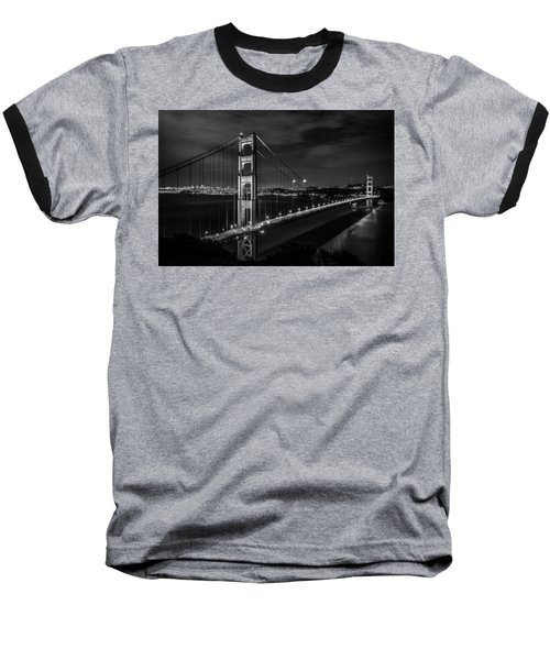 Golden Gate Evening- Mono Baseball T-Shirt