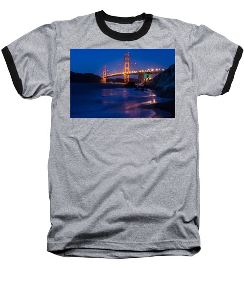 Golden Gate Glow Baseball T-Shirt