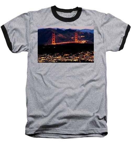 Golden Gate Sunrise Baseball T-Shirt