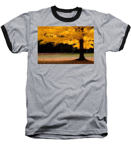 Golden Glow Of Autumn Fall Colors Baseball T-Shirt by Jeff Folger