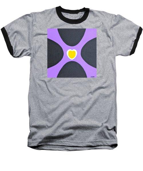 Golden Heart Baseball T-Shirt by Lorna Maza