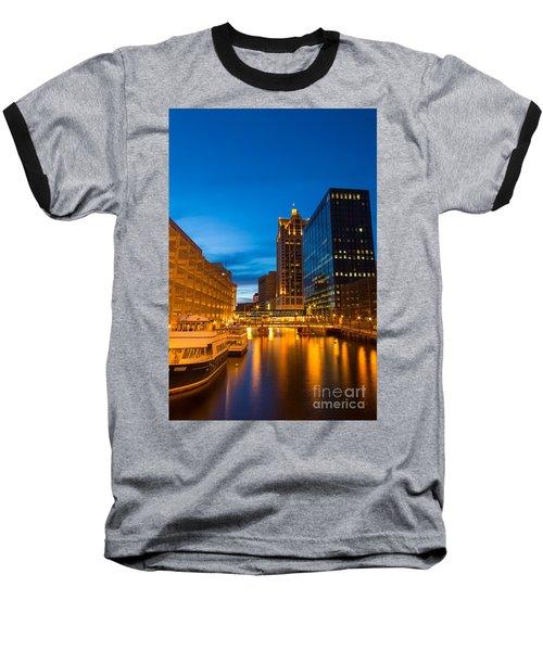Golden Hour Milwaukee River Baseball T-Shirt
