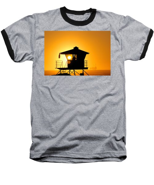 Baseball T-Shirt featuring the photograph Golden Hour by Tammy Espino