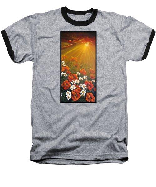 Golden Moment Baseball T-Shirt by Katia Aho