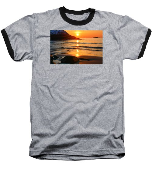 Golden Morning Singing Beach Baseball T-Shirt by Michael Hubley