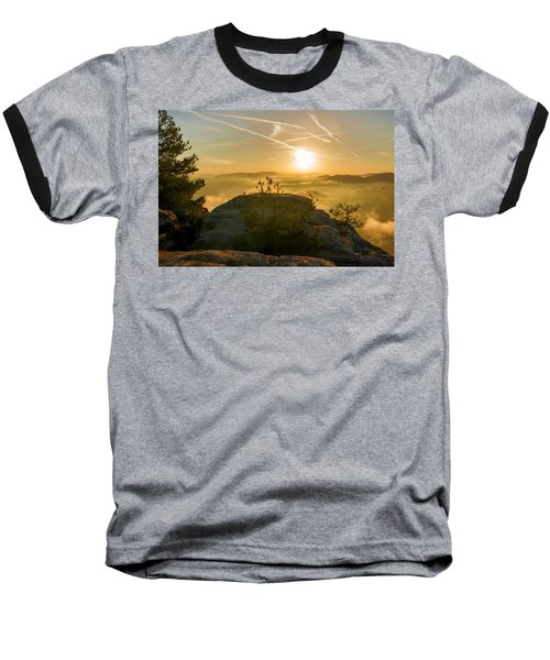 Golden Morning On The Lilienstein Baseball T-Shirt