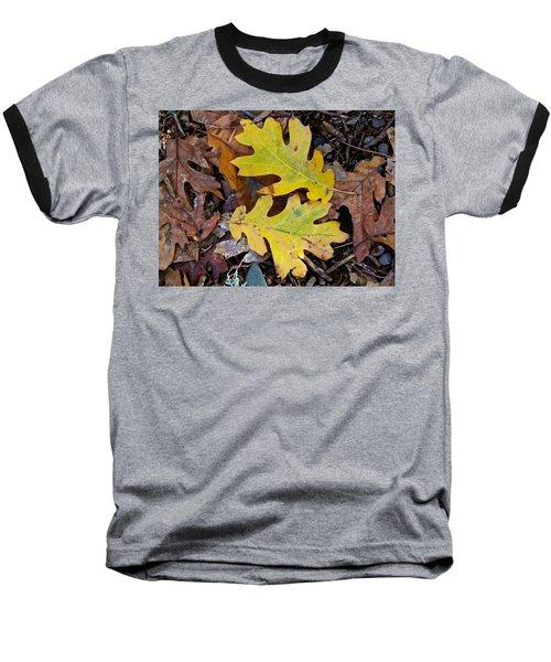 Golden Oak Leaf Duet Baseball T-Shirt