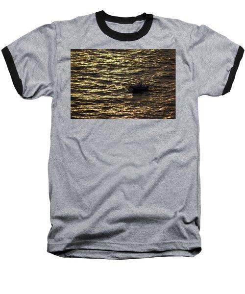 Baseball T-Shirt featuring the photograph Golden Ocean by Miroslava Jurcik