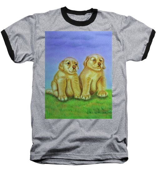 Baseball T-Shirt featuring the painting Golden Retriever by Thomas J Herring