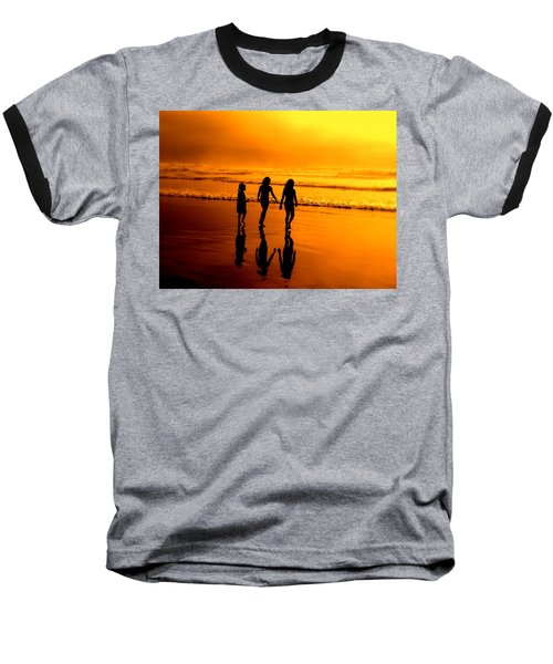 Baseball T-Shirt featuring the photograph Golden Sands  by Micki Findlay