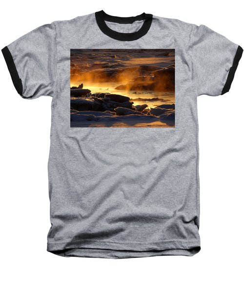 Golden Sea Smoke At Sunrise Baseball T-Shirt