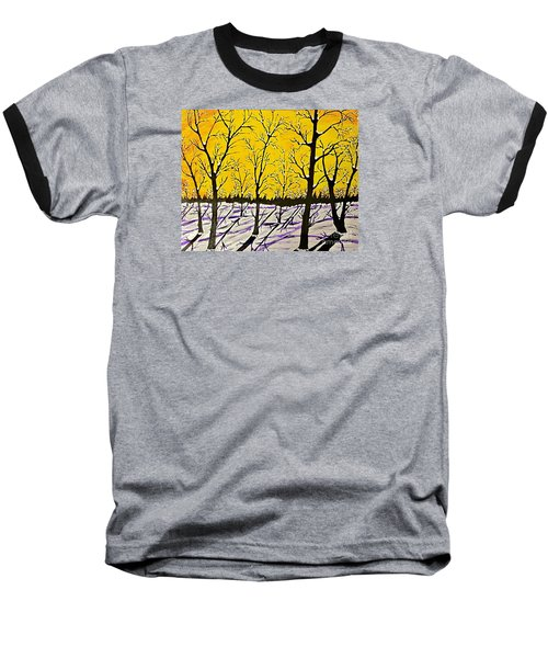 Golden Shadows Baseball T-Shirt by Jeffrey Koss
