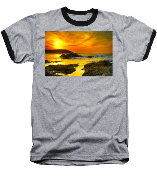 Golden Sky Baseball T-Shirt by Bruce Nutting