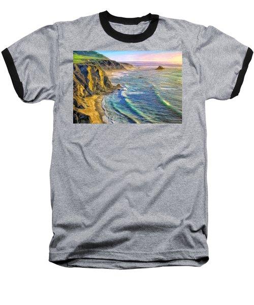 Golden Sunset At Big Sur Baseball T-Shirt