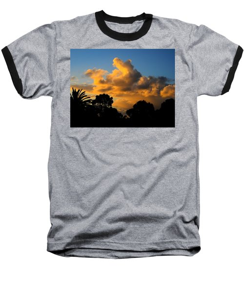 Golden Sunset Baseball T-Shirt by Mark Blauhoefer
