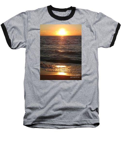 Baseball T-Shirt featuring the photograph Golden Sunset At Destin Beach by Christiane Schulze Art And Photography