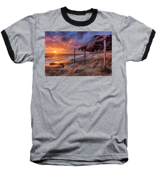 Golden Sunset The Surf Shack Baseball T-Shirt