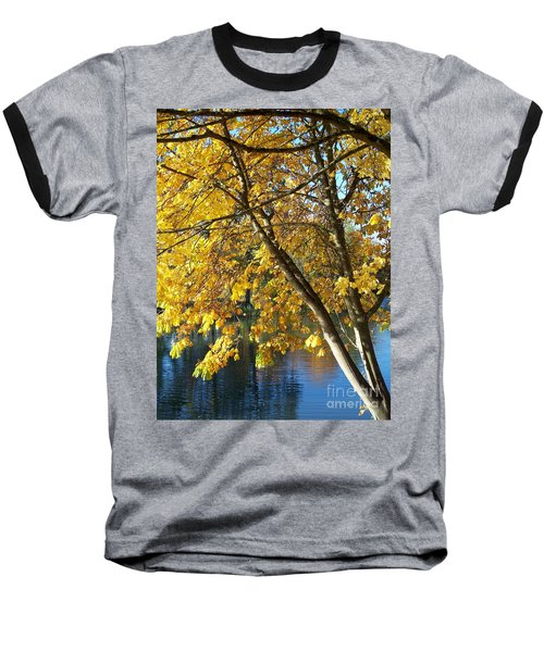 Baseball T-Shirt featuring the photograph Golden Zen by Chalet Roome-Rigdon