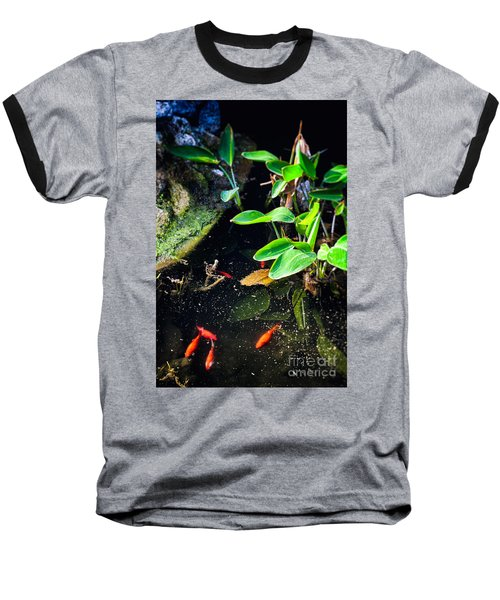 Baseball T-Shirt featuring the photograph Goldfish In Pond by Silvia Ganora