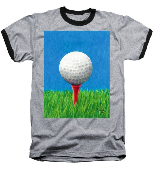 Golf Ball And Tee Baseball T-Shirt