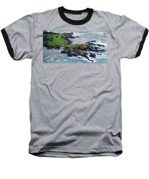Golf Course On An Island, Pebble Beach Baseball T-Shirt