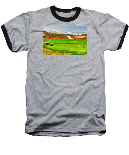 Golf Tee At Spyglass Hill Baseball T-Shirt by Jim Carrell