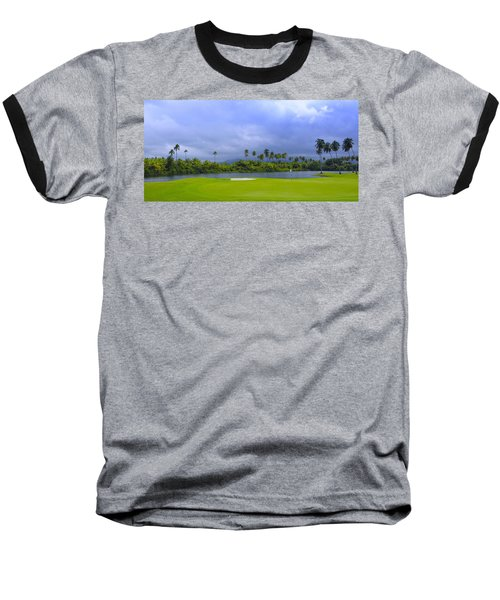 Golfer's Paradise Baseball T-Shirt by Stephen Anderson