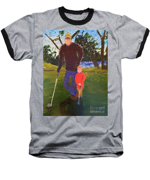 Golfing Baseball T-Shirt by Donald J Ryker III