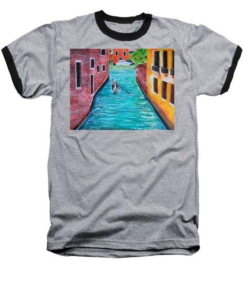 Gondola Time Baseball T-Shirt by Christy Saunders Church