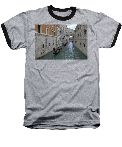 Gondolas Under Bridge Of Sighs Baseball T-Shirt