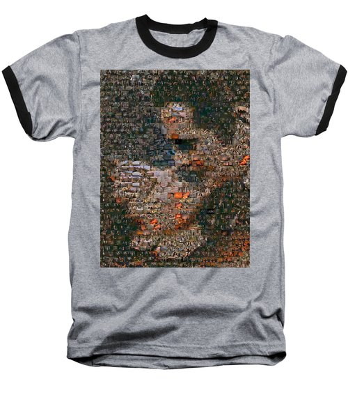 Gone With The Wind Scene Mosaic Baseball T-Shirt