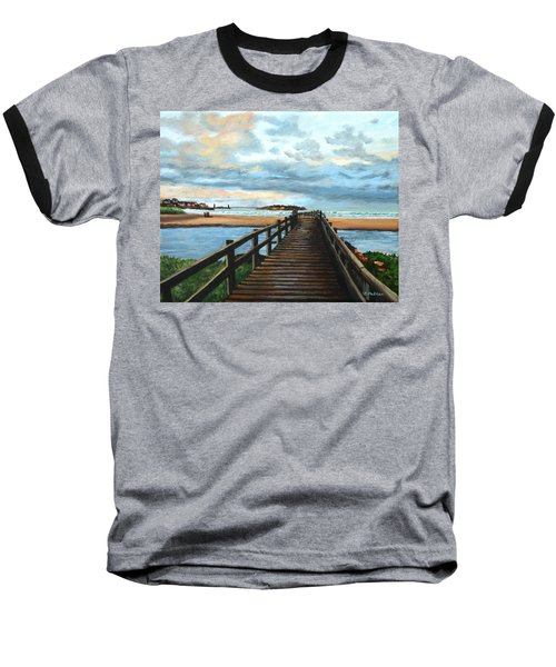 Good Harbor Beach Gloucester Baseball T-Shirt by Eileen Patten Oliver