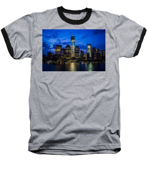 Good Night, New York Baseball T-Shirt by Sara Frank
