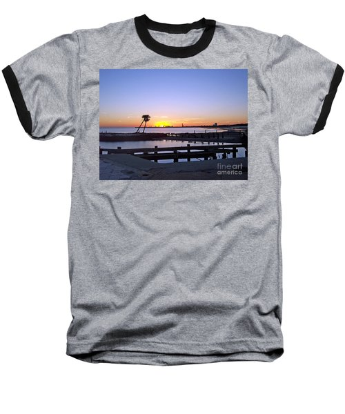 Baseball T-Shirt featuring the photograph Goodbye Sun by Roberta Byram