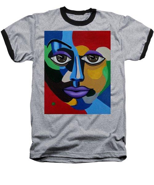 Abstract Face Art Abstract Painting Eye Art Baseball T-Shirt