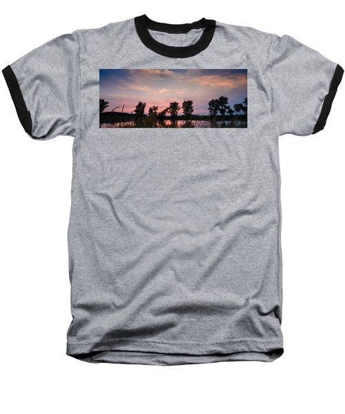 Goose Lake Prairie Sunset Baseball T-Shirt