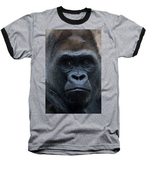 Gorilla Portrait Baseball T-Shirt